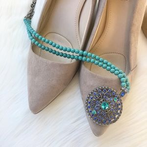 NWOT Teal Statement Necklace